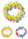Colorful flower ring Stock Photos
