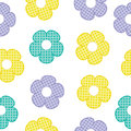 Colorful flower seamless pattern for baby clothes background and wallpaper Royalty Free Stock Photo