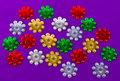 Colorful flower sequins Stock Photos