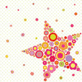 Colorful flower star shape greeting card Stock Photo