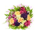 Colorful flowers bouquet isolated on white background Stock Photos
