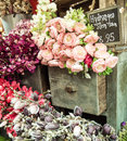Bunch Of Flowers On Vintage Ca...