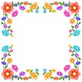 Colorful flowers frame