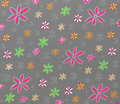 Colorful flowers pattern Royalty Free Stock Photos