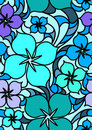 Colorful flowers seamless pattern Royalty Free Stock Images