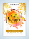 Colorful flyer, banner or template for Summer. Royalty Free Stock Photo
