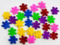 Colorful foam flowers Royalty Free Stock Photos