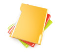 Colorful folders on white background d render Royalty Free Stock Photos