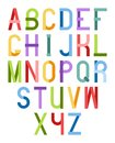 Colorful font design elements vector illustration of abstract letters Royalty Free Stock Image