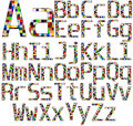 Colorful Font Set Royalty Free Stock Photo