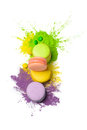 Colorful food paint Royalty Free Stock Photo