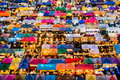 Colorful food stalls at Rod Fai Royalty Free Stock Photo