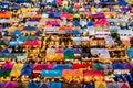 Colorful food stalls at Rod Fai Royalty Free Stock Photo