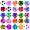 Colorful football set creative for texture and background decoration and design Stock Image