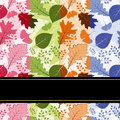 Colorful four season leaves seamless pattern Stock Photo