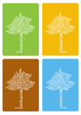 Colorful Four Seasons Trees