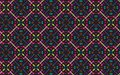 Colorful four sided symmetrical mandala pattern