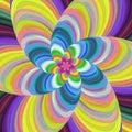 Colorful fractal spiral design background vector