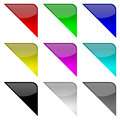 Colorful frame corners Stock Photography