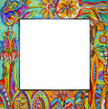 Colorful frame isolated on white background Stock Photography