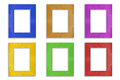Colorful  frame isolated on white background Royalty Free Stock Photo