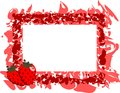 Colorful Frame with strawberries Royalty Free Stock Photo