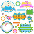 Colorful frames set of for kids Royalty Free Stock Photography