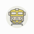 Colorful freight train icon Royalty Free Stock Photo