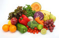 Colorful fresh group of vegetables and fruits Royalty Free Stock Photo