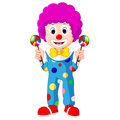 Colorful Friendly Clown With Lollypop