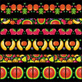 Colorful fruit banners. Royalty Free Stock Photography