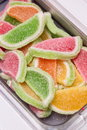 Colorful fruit jelly candy close up Stock Photos
