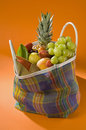 Colorful Fruit Market Bag Stock Images