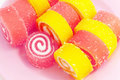 Colorful fruit-paste sweets Royalty Free Stock Photo