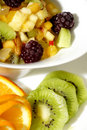 Colorful fruit salad dessert Stock Photo