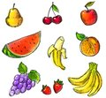 Colorful Fruits Collection Stock Images