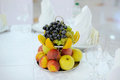 Colorful fruits siver plate Royalty Free Stock Photography