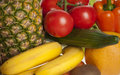 Colorful Fruits and Vegetables Royalty Free Stock Images