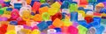 Colorful Fuse Beads Royalty Free Stock Photography