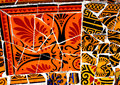 Colorful Gaudi mosaic background Royalty Free Stock Photo