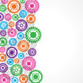 Colorful gear background stock Royalty Free Stock Images