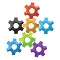 Colorful gear icons Royalty Free Stock Images