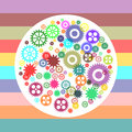 Colorful gear wheels Royalty Free Stock Photo