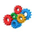 Colorful Gears Stock Photo