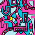 Colorful geometric abstract pattern Graffiti Royalty Free Stock Photo