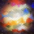 Colorful geometric background, abstract hexagonal Royalty Free Stock Photo