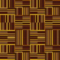 Yellow and brown repeating pattern of stripes in modern style
