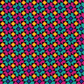 Colorful Geometric Floral pattern Royalty Free Stock Images