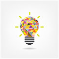 Colorful geometric light bulb creative concept bu idea background design for poster flyer cover brochure business idea abstract Royalty Free Stock Image