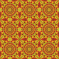 Colorful geometric pattern seamless arabesque style Royalty Free Stock Photos